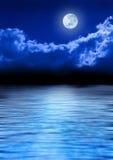 Full Moon Sky And Ocean Royalty Free Stock Photos