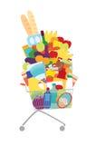 Full shopping cart Stock Image
