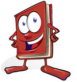 Fun book cartoon Royalty Free Stock Photo