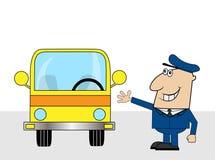 Fun bus driver Stock Image