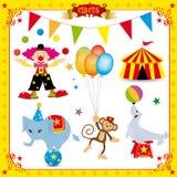 Fun Circus Set Stock Images