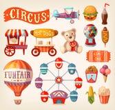 Fun fair icons Stock Photography