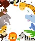 Fun Jungle Animals Border Royalty Free Stock Photography