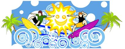 Fun with the sun Stock Image