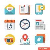 Fundamenteel Vlak die pictogram voor Web en Mobiele Toepassing wordt geplaatst Royalty-vrije Stock Foto's