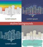 Fundo com paisagens urbanas Imagens de Stock