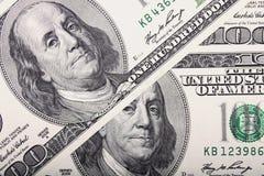 Fundo do dinheiro (próximo acima da nota de dólar) Imagem de Stock Royalty Free