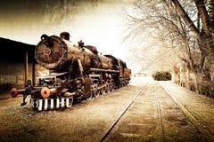 Fundo velho do trem do vintage retro Foto de Stock Royalty Free