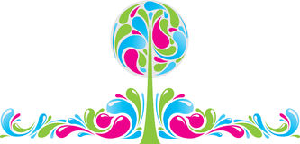 Funky decor with tree Royalty Free Stock Photography