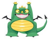 Funny baby dragon. Royalty Free Stock Photos