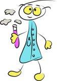 Funny chemist cartoon Royalty Free Stock Photography