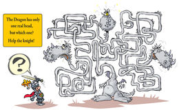 Funny Dragon Maze. Royalty Free Stock Photos