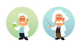 Funny illustration of Chemist and Mathematician Royalty Free Stock Photos