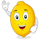 Funny Lemon Character Smiling Stock Images