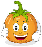Funny Pumpkin Character with Thumbs Up Royalty Free Stock Photography