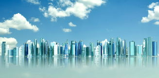 Futuristic City Royalty Free Stock Photos