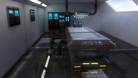 Futuristic room architecture laboratory Royalty Free Stock Photos