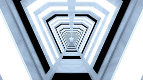 Futuristisk korridorinre Arkivfoto