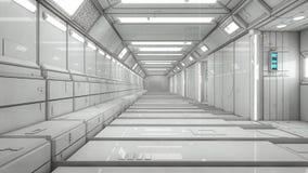Futuristisk korridorinre Arkivbild