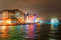 Galata quarter on Bosporus in Istanbul, Turkey Royalty Free Stock Photo