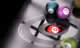Gambling, Chance and Number 13 Royalty Free Stock Image