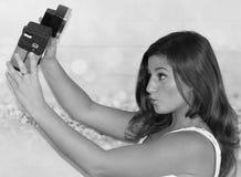 Gamla Hollywood Selfie Royaltyfria Foton