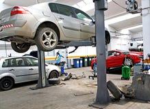 Garage automobile de service Photos stock