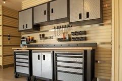 Garage workspace Stock Photos