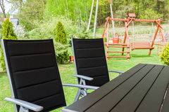 Garden chairs and table Royalty Free Stock Photos