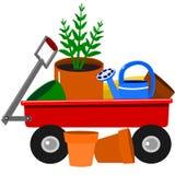 Garden wagon Royalty Free Stock Photography