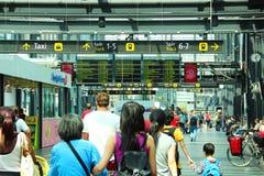 Gare ferroviaire de Malmö, Suède Images libres de droits