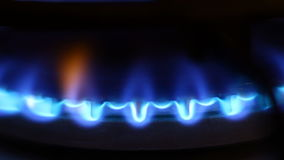 Gas flame video stock footage