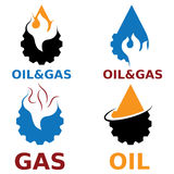 Gasindustrie-Vektorgestaltungselemente Lizenzfreie Stockfotos