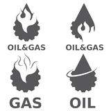 Gasindustrie-Vektorgestaltungselemente Stockfoto