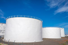 GasSammelbehälter in Reykjavik Stockfoto