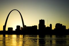 Gateway Arch St. Louis Missouri Skyline Stock Photos
