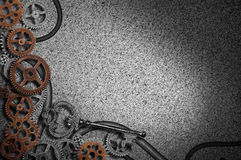 Gears background with key Royalty Free Stock Photo