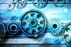 Gears Cogs Technology Background Royalty Free Stock Images
