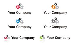 Gears logo element Stock Images