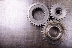 Gears on metal background Royalty Free Stock Photo
