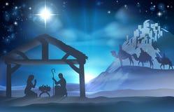 Geburt Christis-Weihnachtsszene Stockfotografie