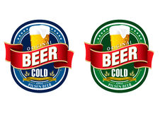 Generic beer label logo Stock Photography