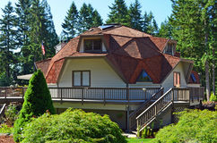 Geodesic Dome House Royalty Free Stock Photography