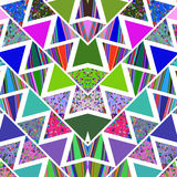 Geometric  bright  modern repetition mosaic abstract background Stock Photos