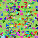Geometric simple colorful repetition mosaic abstract background Royalty Free Stock Photo
