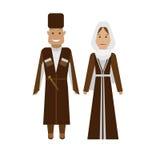 Georgian national dress Royalty Free Stock Images