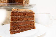 German Chocolate Cake Slice Closeup Royalty Free Stock Image