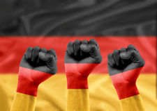 German fans Royalty Free Stock Photos