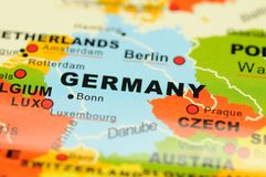 Germany on map Stock Images