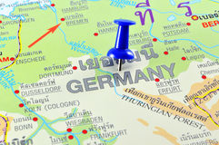 Germany map Royalty Free Stock Photo